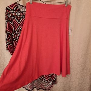 NWT- LuLaRoe L Azure skirt orange